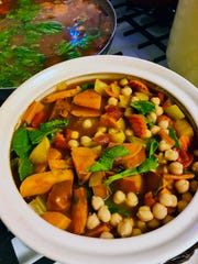 Vegan Moroccan Butternut Chickpea Stew is a vibrant, hearty main dish.
