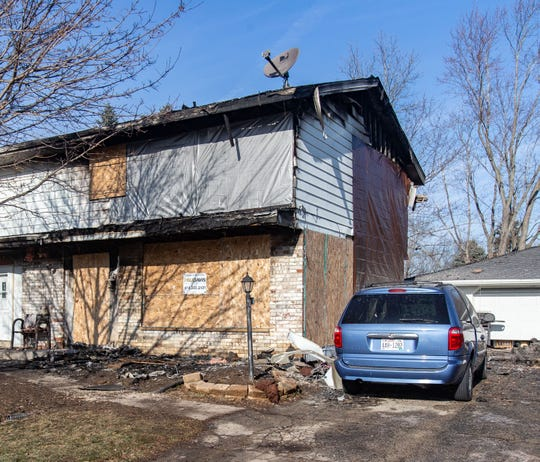 Extensive damage is visible on a townhouse at S70 W14980 Cornell Circle in Muskego on Tuesday, Dec. 11, 2018. The damage was caused by a fire early Monday, Dec. 10, 2018.