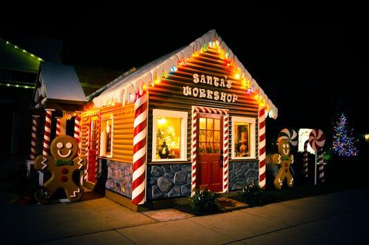 Santa Workshop At Night