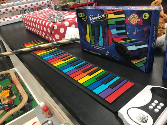 The Rainbow Piano has been a popular gift this holiday season.