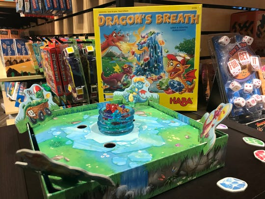 Dragon's Breath is a popular children's game in which each player is a dragon and tries to collect the most gems.
