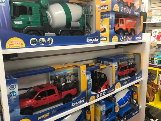 Another popular gift that Ruckus & Glee owner Matt Poulson has seen in high-demand this year are Bruder Trucks, which are made to scale exactly 1/16 the size of the real things.