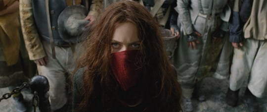 "Hera Hilmar plays Hester Shaw, who may be the key to stopping the marauding city of London in ""Mortal Engines."""