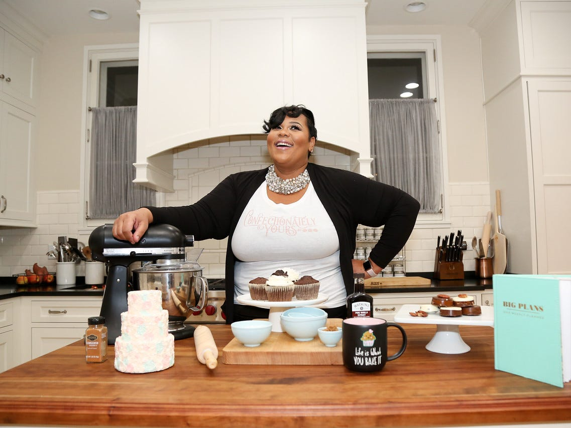 Adija Smith's baking talents range from poundcake to pie to fancy decorated cookies.