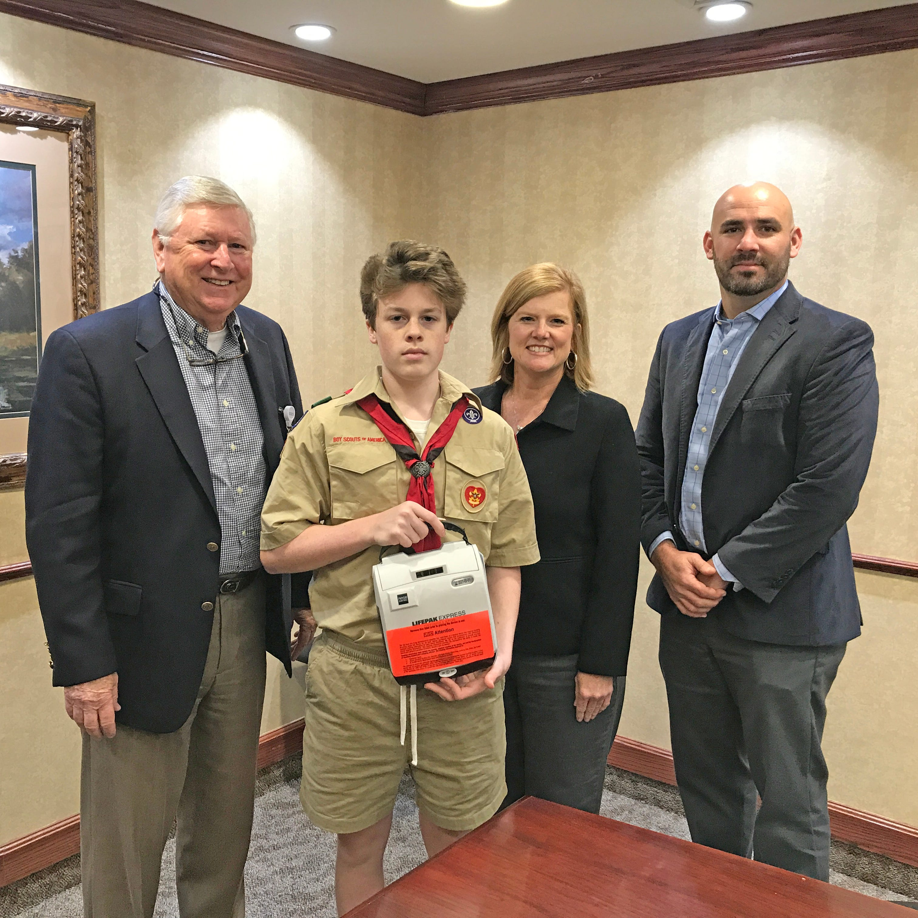Eagle Scout project leads to new Automated External Defibrillators across MHPS District