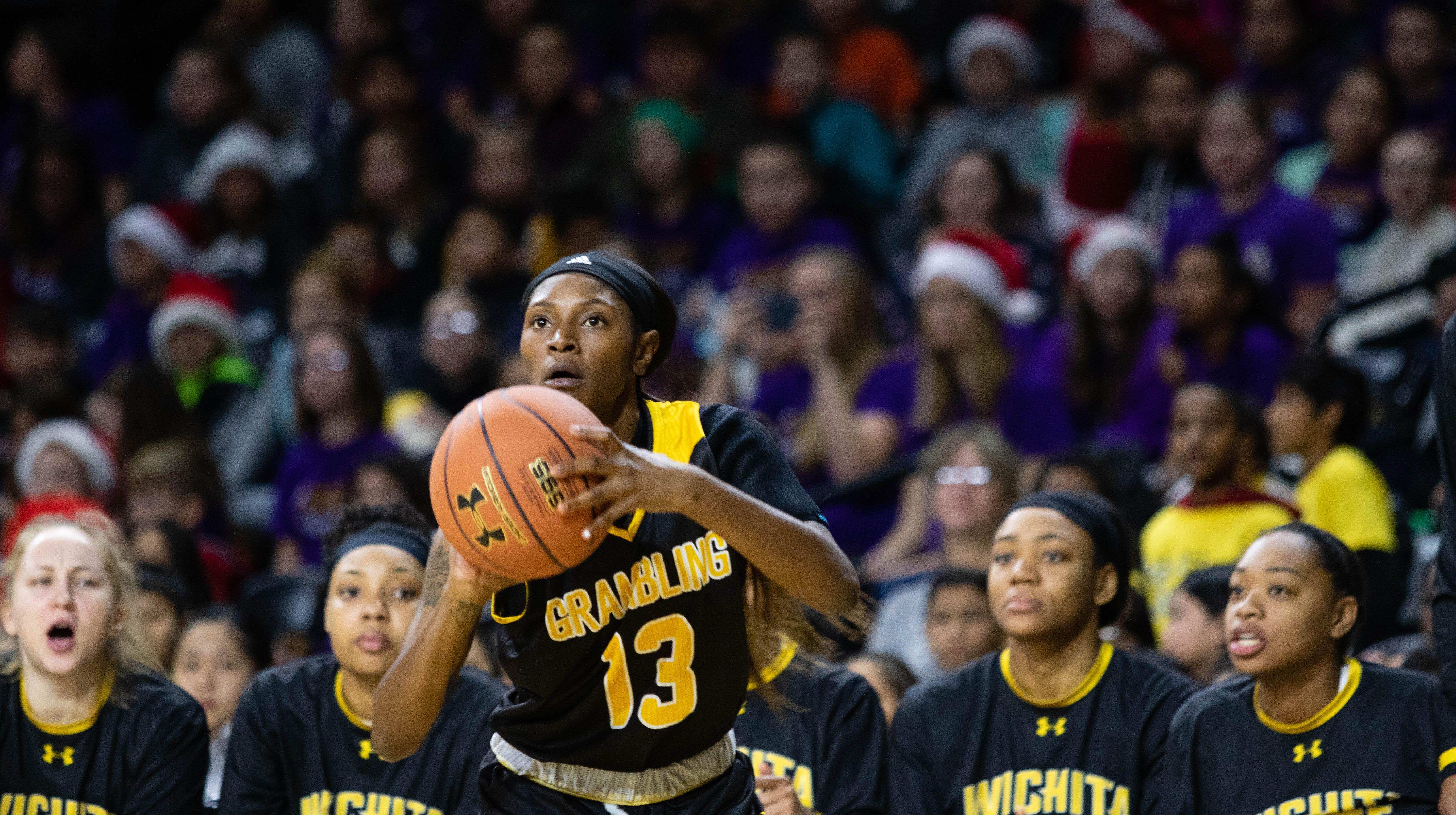 Grambling State's Jazmin Boyd prepares to take a shot against Wichita State on Tuesday.