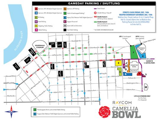 Camellia Bowl Parking Map 2018 1