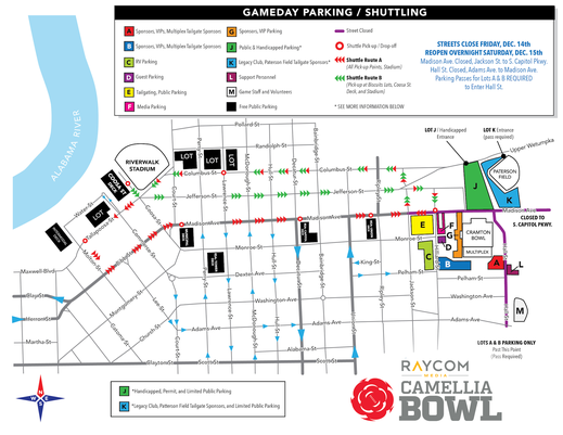 Camellia Bowl Parking Map 2018 1