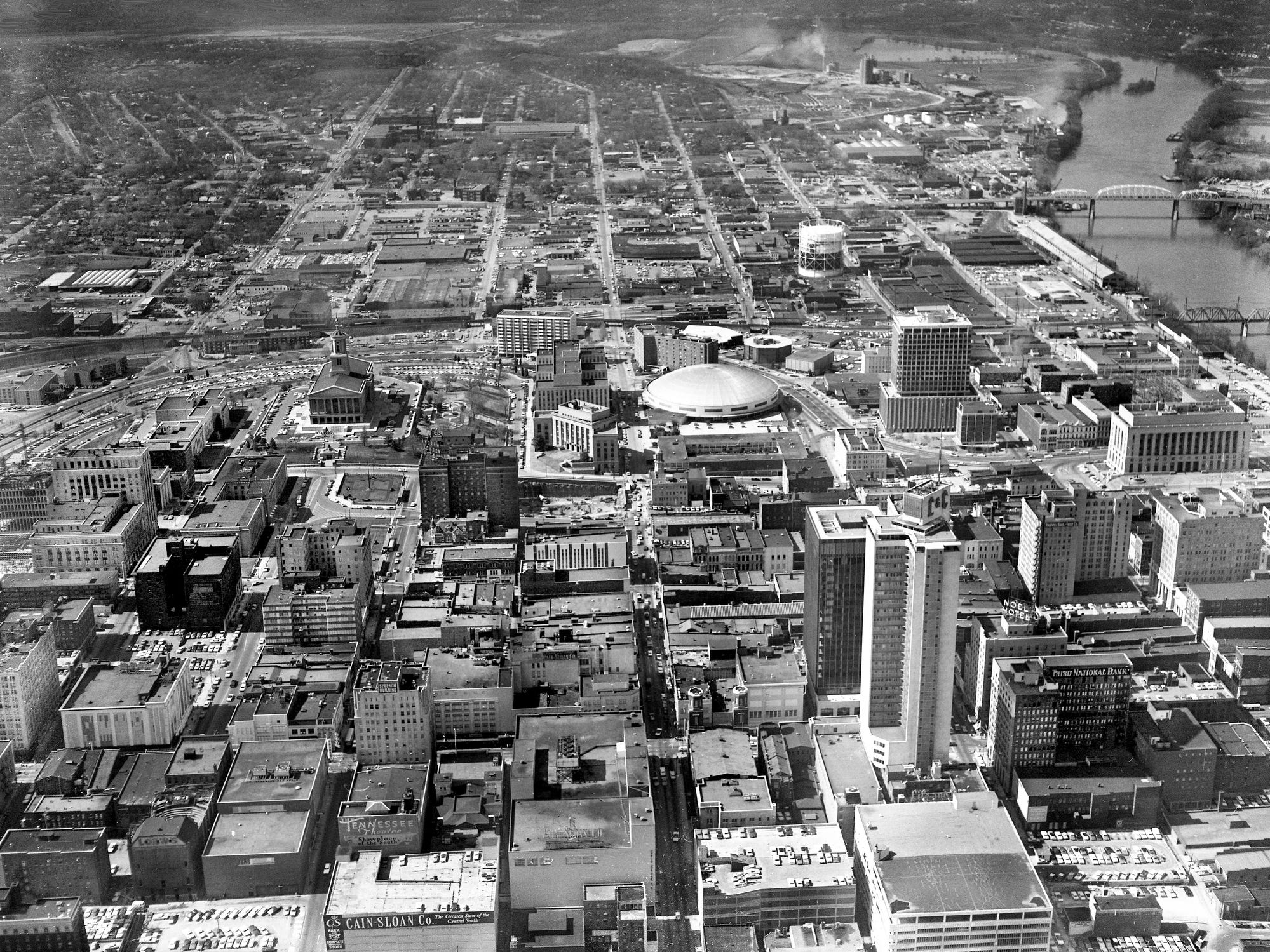 The view of downtown Nashville on a fine spring day April 11, 1968.