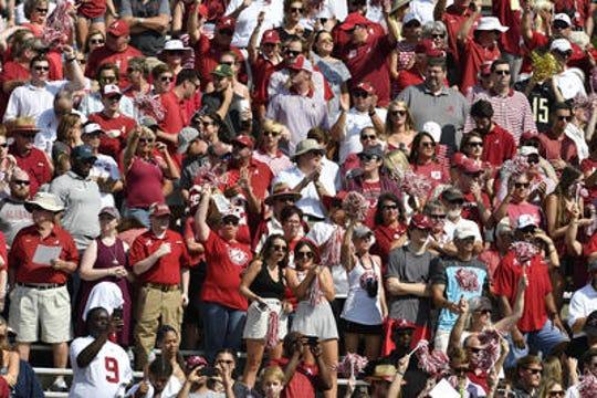 Alabama fans at Vanderbilt Stadium for a game in Nashville on Sept. 23, 2017.
