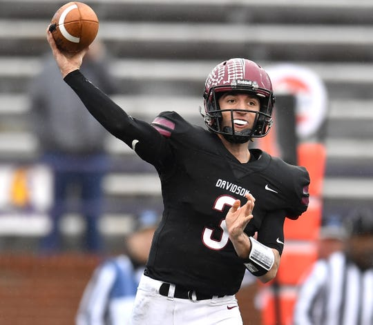 Davidson Academy quarterback Stone Norton is a nominee for the Tennessean's Football Player of the Year award.