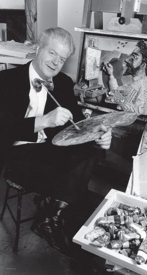 The artist, Red Grooms, c. 1990s.