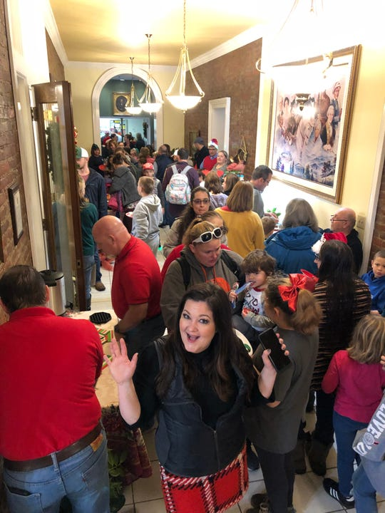 Valerie Kemp Dreier, who spearheaded the countywide toy drive, held the event in conjunction with the Cheatham County Courthouse open house to kick off the holiday season.