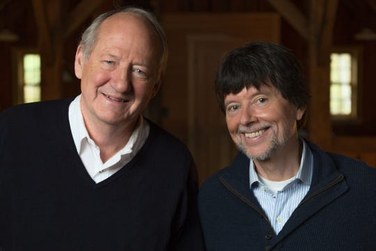 Dayton Duncan, left, and Ken Burns, right.