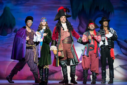 "John O'Hurley stars as Captain Hook in ""Peter Pan and Tinkerbell: A Pirate's Christmas."" Give him a hand, folks."