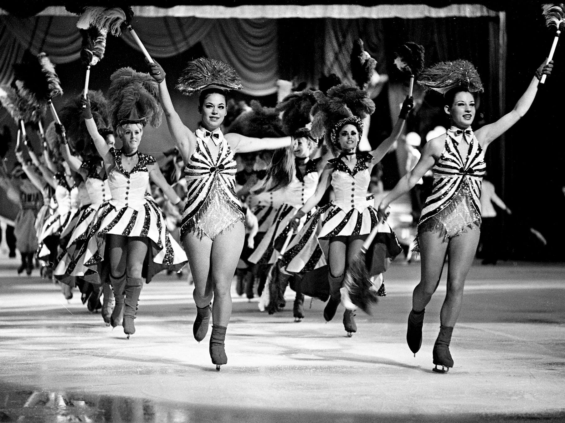 "The 24th edition of Holiday on Ice opens its Nashville show at the Municipal Auditorium on Aug. 20, 1968, with the number ""Hello New York."""