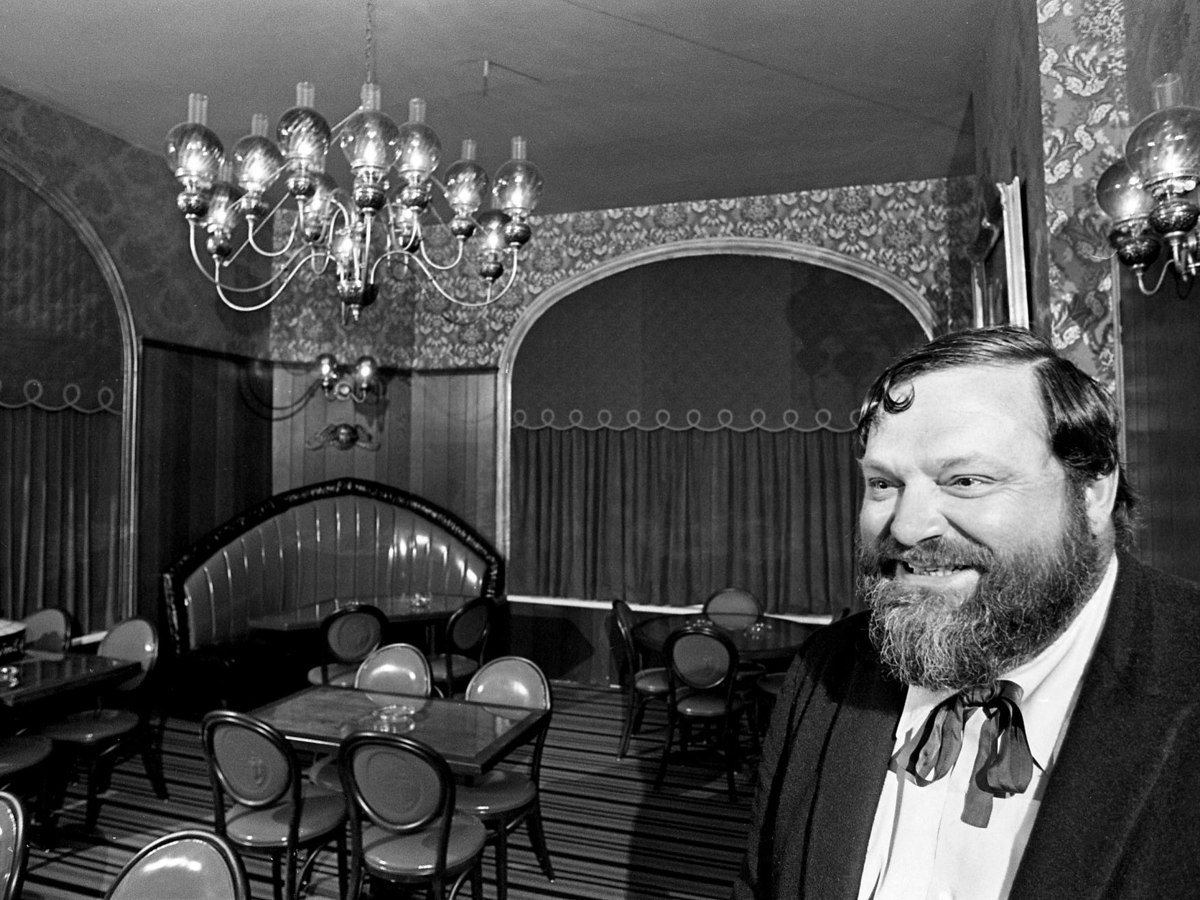 """Man, it's beautiful,"" said famed New Orleans trumpeter Al Hirt as he checks out the new upstairs room of his Nashville's Al Hirt Sandwich Saloon at Second Avenue and Broadway on Nov. 27, 1968."