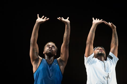 Dancers Maleek Washington and Timothy Edwards.
