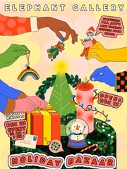 Elephant Gallery kicks off its week-long Holiday Bazaar on Monday, Dec, 17.