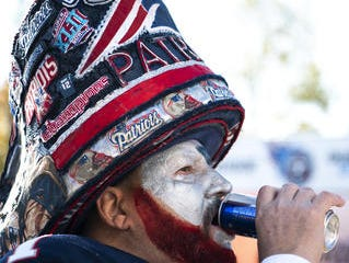 Ed Lasater, of Orange Park, Fla., tailgates with other fans outside of Nissan Stadium in Nashville, before the game between the Tennessee Titans and the New England Patriots on Nov. 11, 2018.