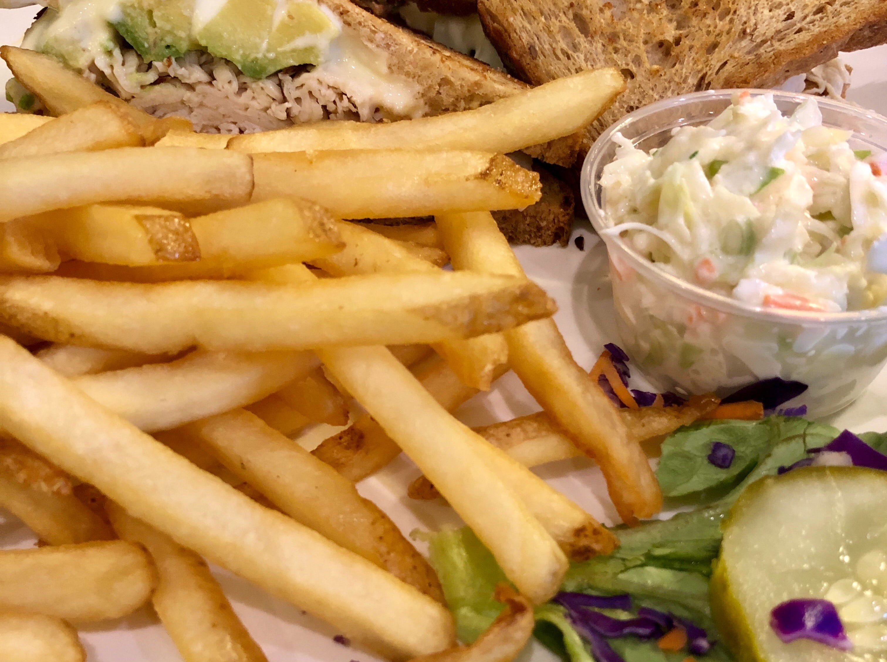 A grilled turkey and brie sandwich with avocado at  Alice Sweetwater's Bar & Grille in Naples.