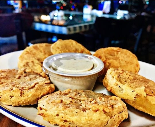 Fried green tomatoes are thick and tasty at Cracklin' Jacks in Golden Gate.