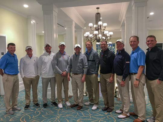 Tim Miller, director of player development at Wyndemere Country Club, was the Collier County team captain in the Challenge Cup on Monday, Dec. 10, 2018 at Fiddlesticks Country Club in Fort Myers. Team members included Justin Ahasic (Synergy Golf), JC Anderson (The Club at the Strand), Justin Bertsch (Hideout Golf Club), Danny Butts (Royal Poinciana Golf Club), Ben DeArmond (TPC Treviso Bay), Tony Kelley (Island Country Club), Matt Markle (TPC Treviso Bay), Chris Phillips (Cypress Woods Golf & Country Club), Justin Smith (Bonita Bay Club), Andrew Filbert (Royal Poinciana Golf Club) and David Bartoe (retired).