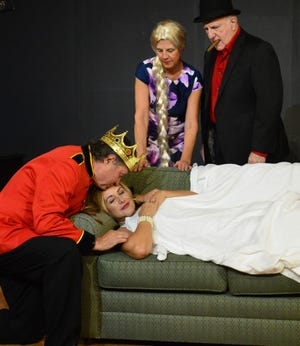 """Left, Jay Terzel, Jodee Bennett, Cindy Hile and Kevin Keannelly in """"The Big Snooze"""""""