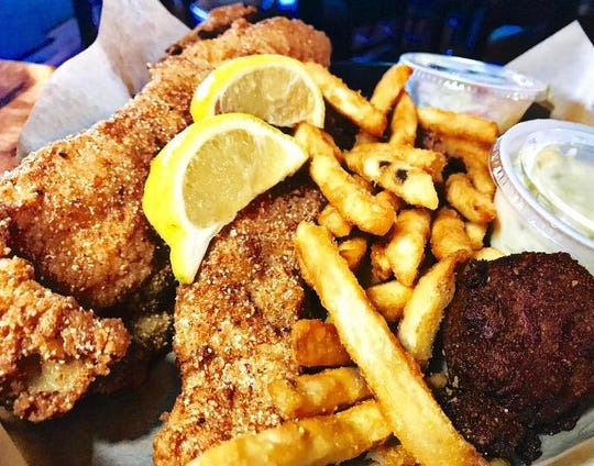 The catfish basket with a hush puppy and fries is popular at Cracklin' Jacks in Golden Gate.