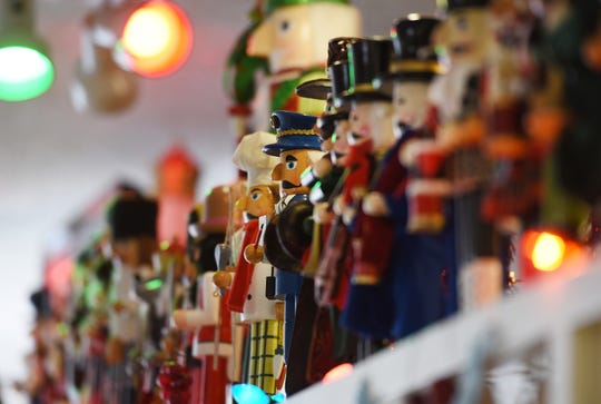 Various Nutcrackers are displayed at Big Frank's Homestyle Kitchen in North Arlington on 12/11/18.
