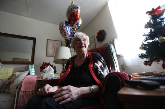 Anna Gizzi, of Westwood, is shown on her 101st birthday, Tuesday, December 11, 2018.