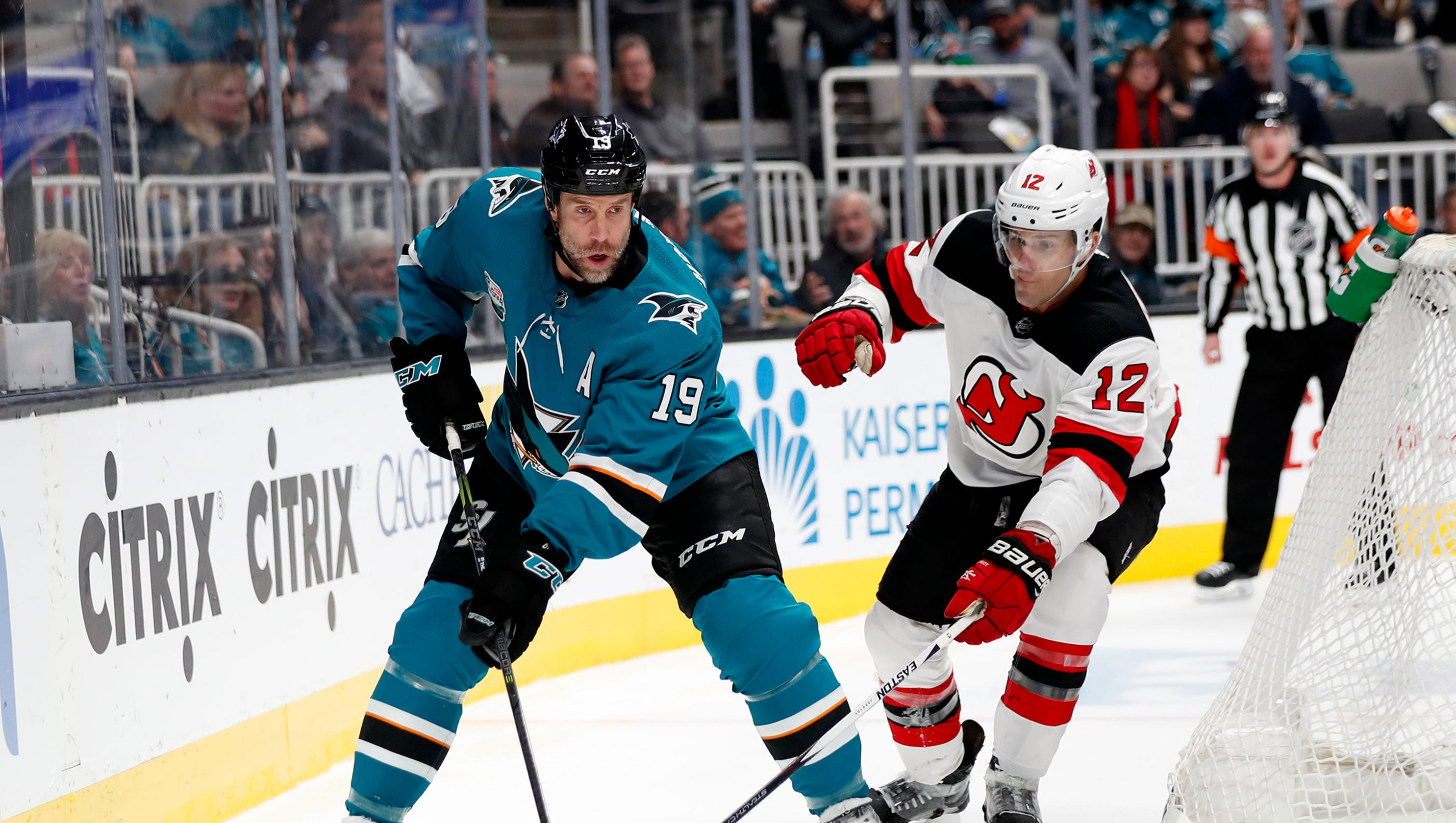 95d52963b NJ Devils finish California swing with 5-2 loss to Sharks
