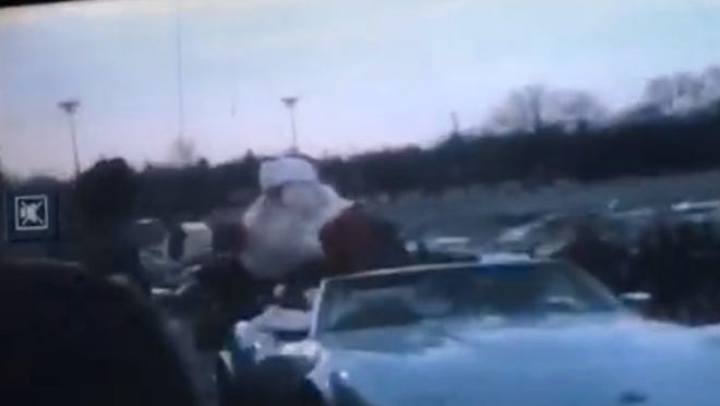 Santa arrives by helicopter at Garden State Plaza in Paramus.