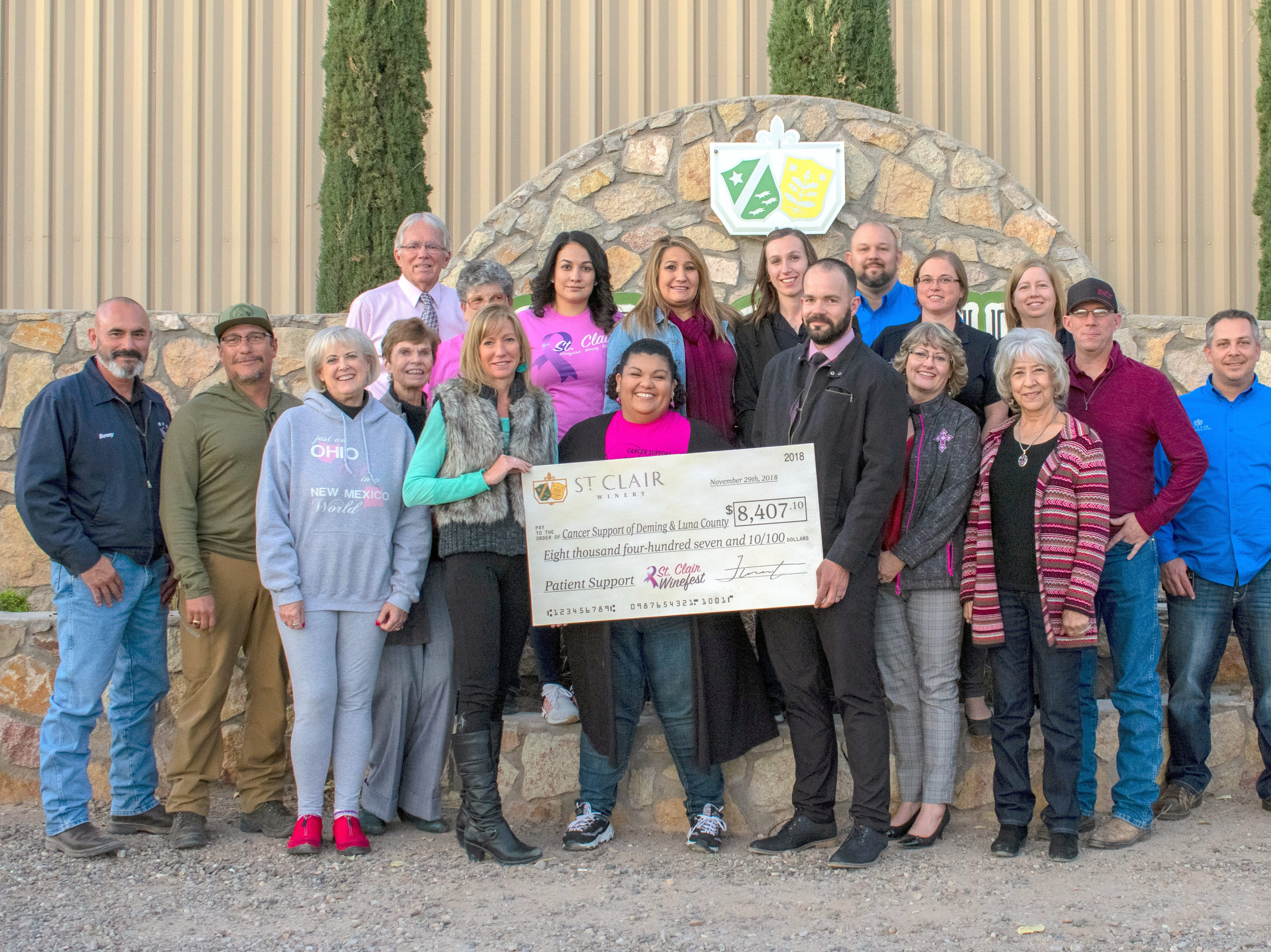 This year's Winefest donation was $8,407.10, which has been credited to both attendance and silent auction donations collected from local businesses.
