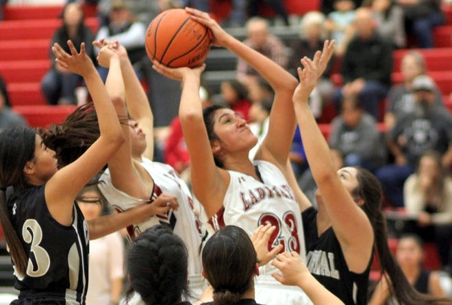 Senior Lady 'Cat post Vanessa Garcia (23) has become a force in the paint.