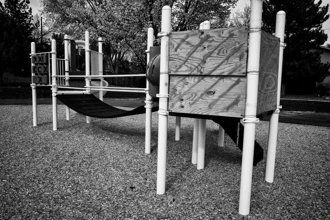 A playground in Farmington near the home of Hope Graciano, a foster parent licensed by La Familia-Namaste. Graciano is currently on trial for felony child abuse.