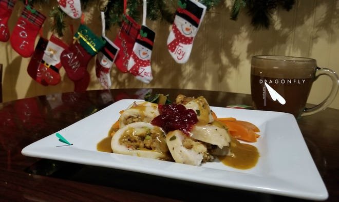 Holiday pork loin from Dragonfly, 139 Main St.