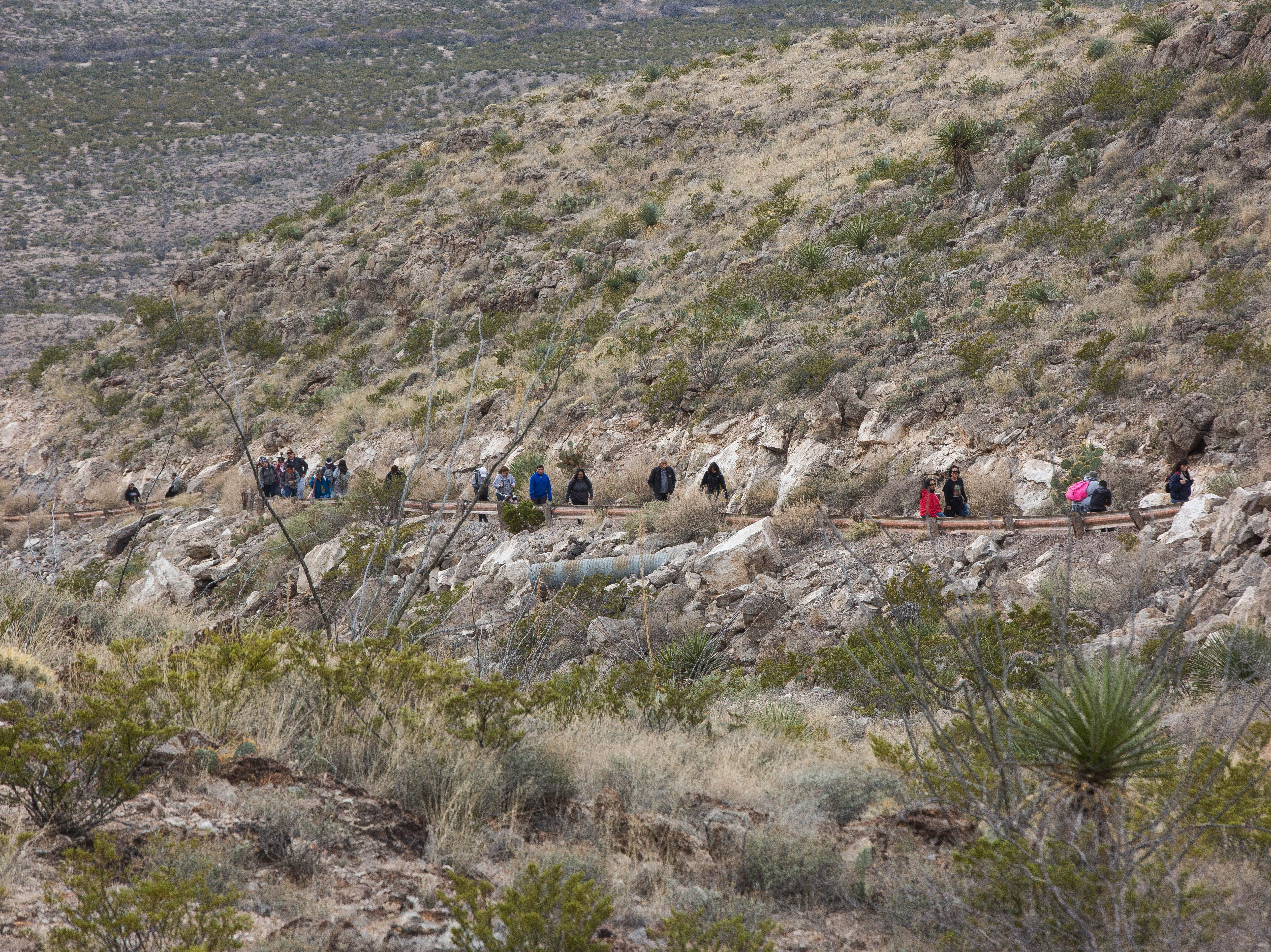 During the second day of the Fiesta of Our Lady of Guadalupe, a pilgrimage is made from the Tortugas Pueblo to the top of Tortugas Mountain on Tuesday, Dec. 11, 2018.