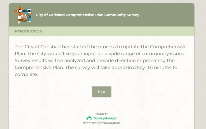 The City of Carlsbad Comprehensive Plan community survey can be found online.