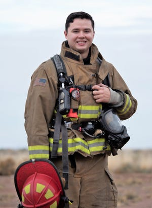Staff Sgt. Brock Gladson, 49th Civil Engineer Squadron lead firefighter, poses for a personality portrait Dec. 3, 2018, on Holloman Air Force Base, Gladson enlisted in the Air Force as a firefighter in 2013. Today, he is the lead firefighter at Fire Station 3 on Holloman and a certified CPR instructor.