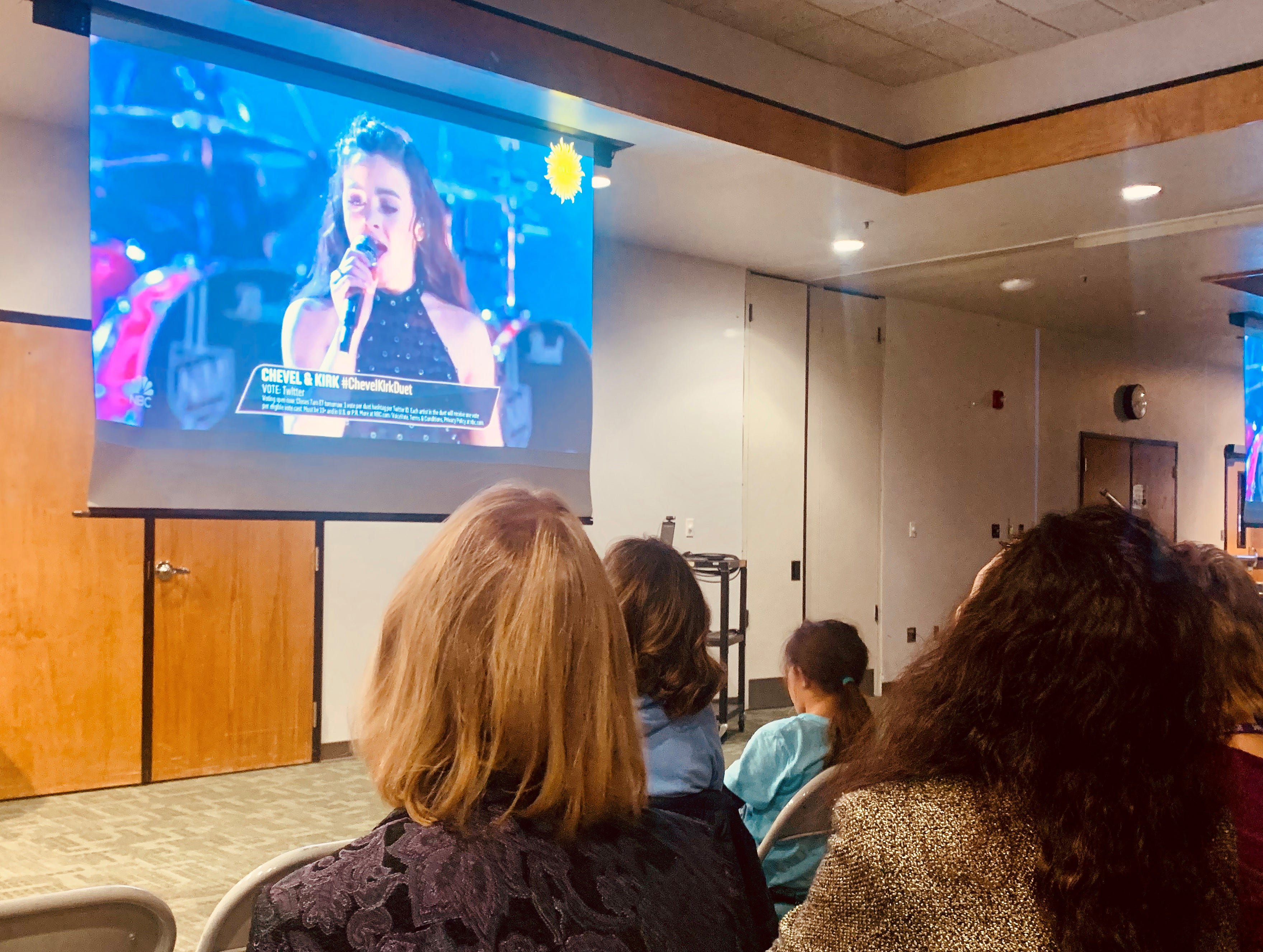 Fans and supporters of Farmington High School junior Chevel Shepherd watched her duet performance Monday night in the Henderson Fine Arts Center at San Juan College.