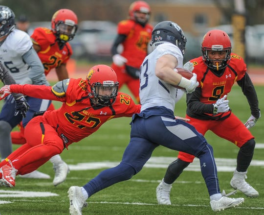 Catholic Central grad Danny Collins (left) wants nothing better than to go out a winner in his final college football game at Ferris State.