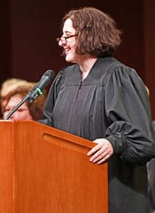 Redford District Judge Krista Haroutunian says that while there is much to learn as she takes the bench, the transition from advocate to judge has been a smooth and positive one, due to the guidance of Judge Karen Khalil and the court staff.