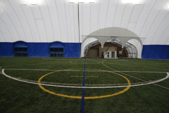 The UW-Oshkosh Rec Plex is a 4.35 acre recreational complex with lighted, multi-use synthetic turf, a 3000 square foot support building, and a seasonal dome located on the corner of Wisconsin Street and Pearl Avenue, Tuesday, December 11, 2018. Joe Sienkiewicz/USA Today NETWORK-Wisconsin
