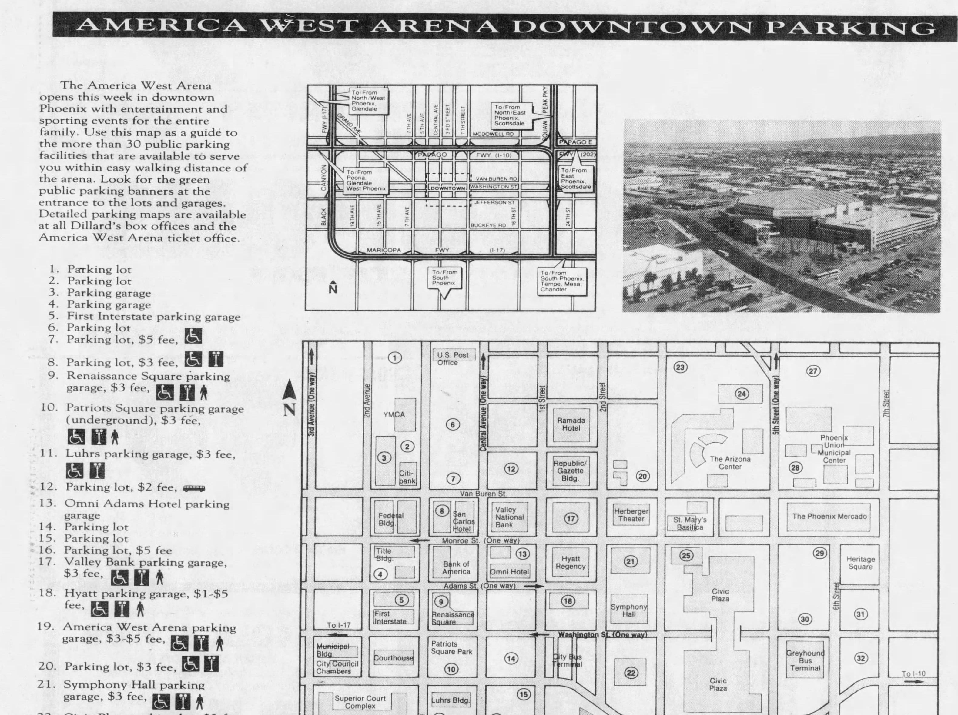 Downtown Phoenix parking had changed a lot by 1992.