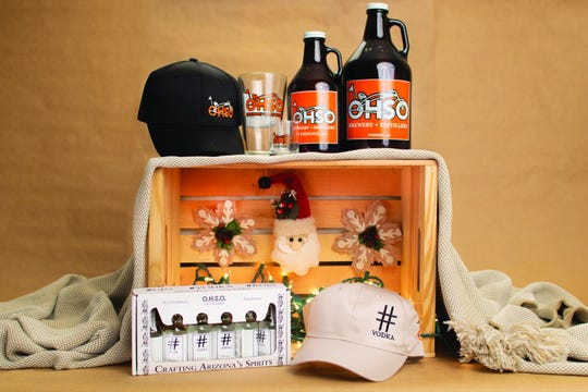 The collection of gifts available at OHSO Brewery and Distillery, post-security Terminal 2
