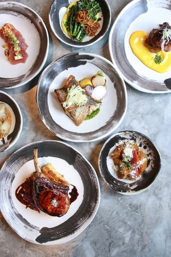 A variety of dishes at Artizen, The Camby Hotel.