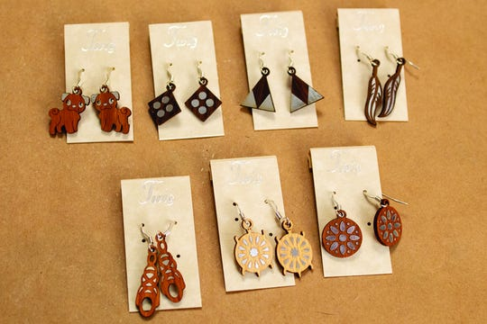 Give the gift of southwestern inspired jewelry with these twig earrings ($14.99) available at Indigenous near gates D1-D8 in Terminal 4 and post-security in Terminal 2
