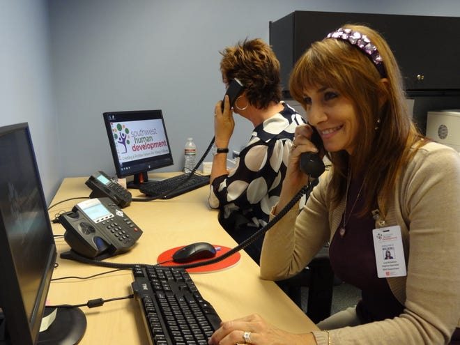 Birth to Five Helpline headquarters. The free help-line service is provided by the nonprofit Southwest Human Development.