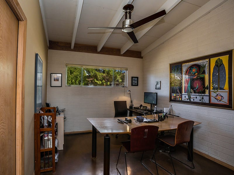 The office in Gene Cohen and Anne Thompson's 1,980-square-foot home.